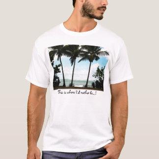 St. Kitts - 3 palms seascape T-Shirt