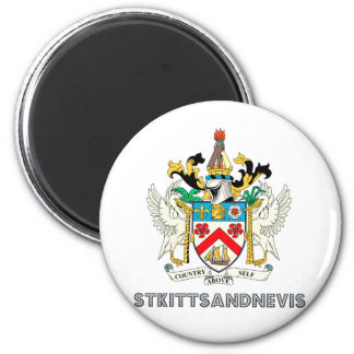 St. kitts and nevis 2 inch round magnet