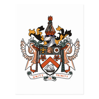 St Kitts and Nevis coat of arms Postcard
