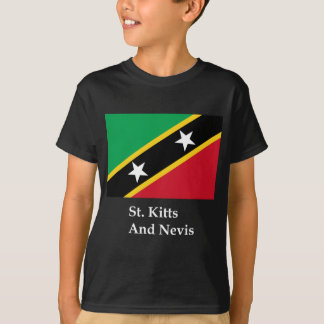 St Kitts And Nevis Flag And Name T-Shirt