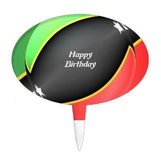 St Kitts And Nevis Flag Birthday Cake Topper