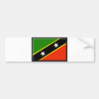 St. Kitts and Nevis Flag Car Bumper Sticker