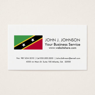 St Kitts and Nevis Flag Business Card
