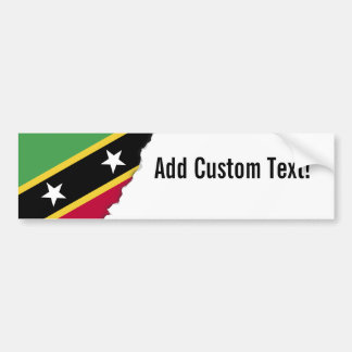 St Kitts and Nevis Flag Car Bumper Sticker
