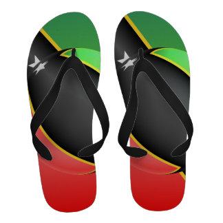 St Kitts And Nevis Flag Flip Flops