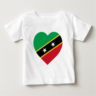 St Kitts and Nevis Flag Heart Baby T-Shirt
