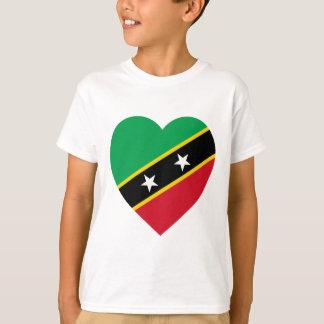 St Kitts and Nevis Flag Heart T-Shirt