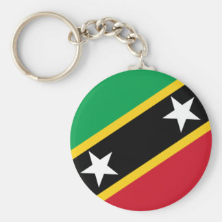 St Kitts and Nevis Flag Keychain