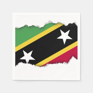 St Kitts and Nevis Flag Napkin