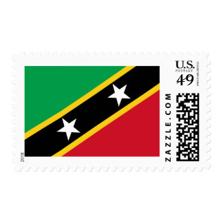 St Kitts and Nevis Flag Stamps
