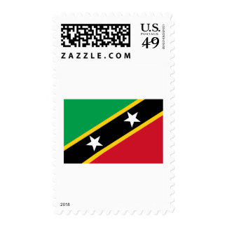 St Kitts and Nevis Flag Stamp