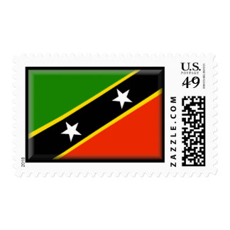 St. Kitts and Nevis Flag Postage Stamp