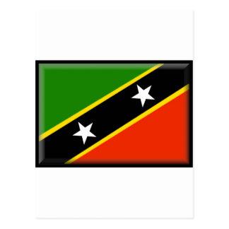 St. Kitts and Nevis Flag Postcard