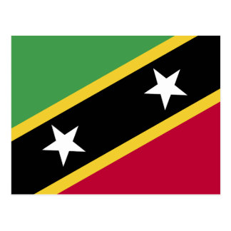 St Kitts and Nevis Flag Postcard