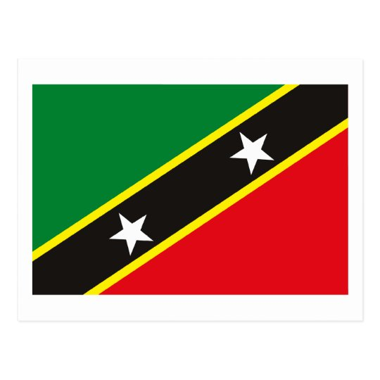 St Kitts And Nevis Flag Postcard Zazzle Com