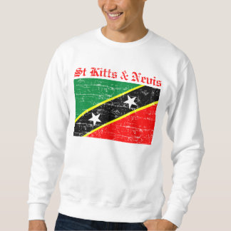 St Kitts and Nevis Flag Pullover Sweatshirt