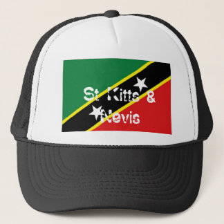 St Kitts and Nevis flag souvenir hat