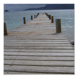 St.Kitts and Nevis-Pier Poster