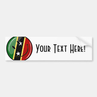 St. Kitts and Nevis Smiling Face Flag Car Bumper Sticker