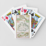 St. Kitts, Antigua and Bermuda, detail from a map Bicycle Playing Cards