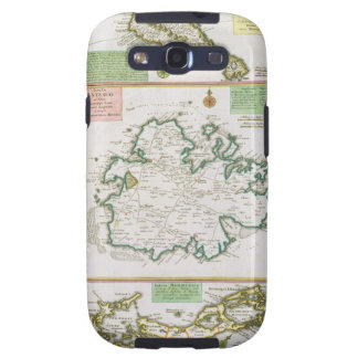St. Kitts, Antigua and Bermuda, detail from a map Galaxy S3 Cases