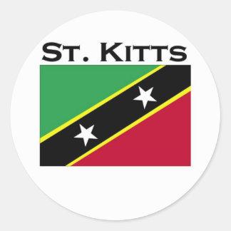 St. Kitts Classic Round Sticker