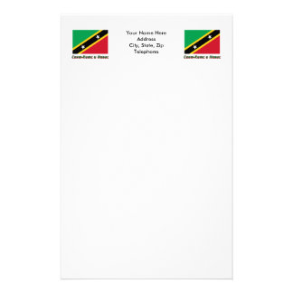 St. Kitts & Nevis Flag with name in Russian Stationery