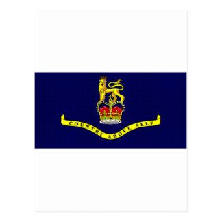 St Kitts Nevis Governor General Flag Postcard