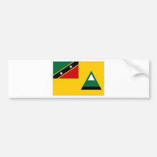 St Kitts Nevis Local Flag Car Bumper Sticker