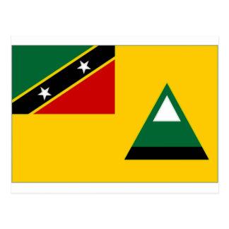 St Kitts Nevis Local Flag Postcard