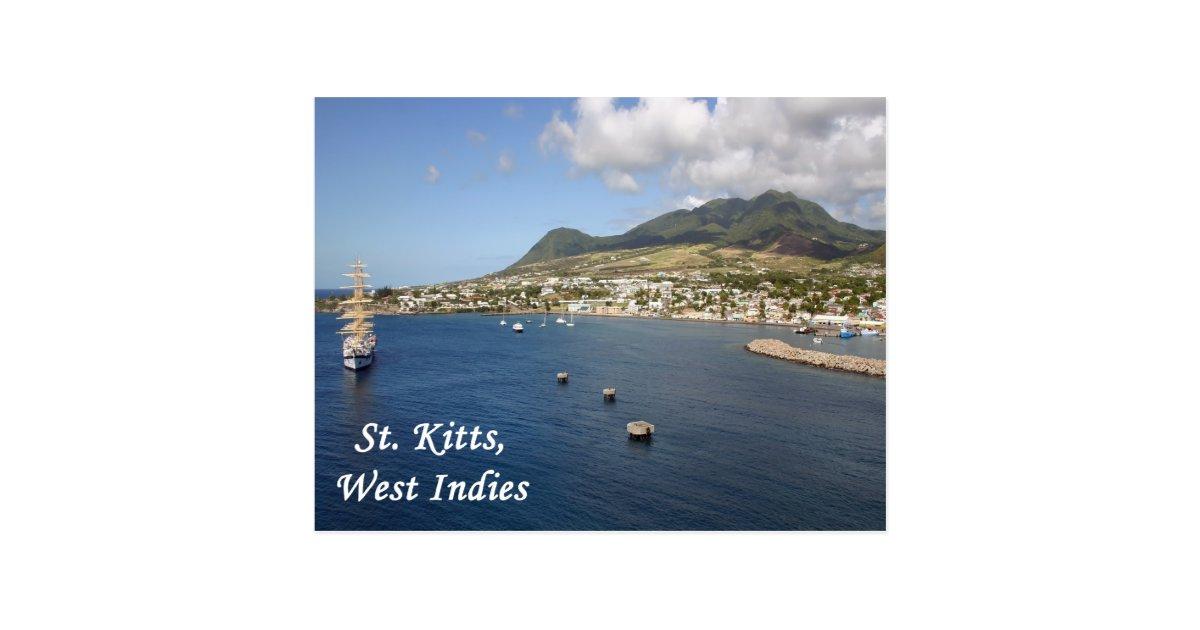 st  kitts postcard