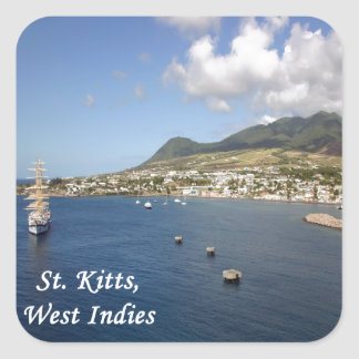 St. Kitts Square Sticker