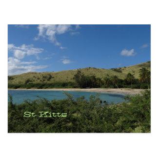 St Kitts Tropical Beach Photo Postcard