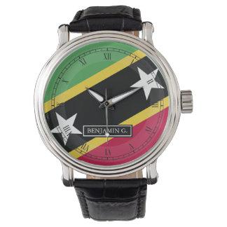 St.Kitts y nombre del personalizado de Nevis Reloj De Mano