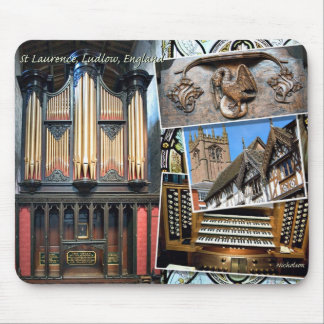 St Laurence organ, Ludlow, England Mousepad