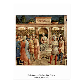 St.Lawrence Before The Court By Fra Angelico Post Cards