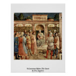 St.Lawrence Before The Court By Fra Angelico Print