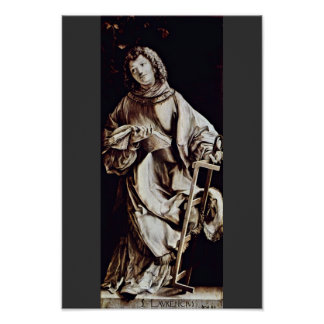 St. Lawrence By Grünewald Mathis Gothart Posters