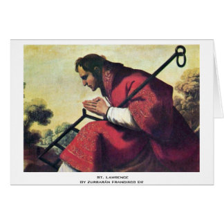 St. Lawrence By Zurbarán Francisco De Card