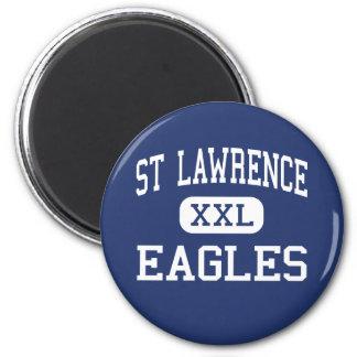 St Lawrence Eagles Santa Clara elemental Imán Redondo 5 Cm