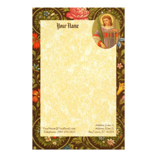 """St. Lawrence of Rome (PM 04) 5.5""""x8.5"""" Stationery"""