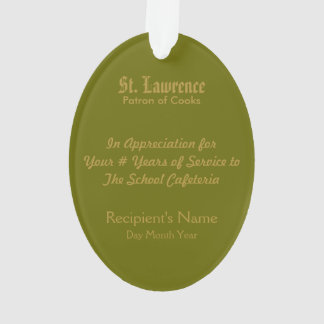 St. Lawrence of Rome (PM 04) Acrylic Ornament