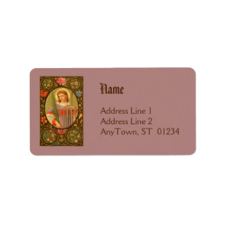 St. Lawrence of Rome (PM 04) NB Address Label #1b