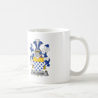 St. Leger Family Crest Classic White Coffee Mug