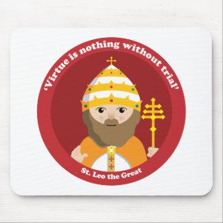 St. Leo el grande Alfombrillas De Ratones