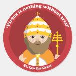 St. Leo el grande Pegatina Redonda