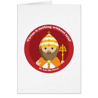 St. Leo el grande Tarjeton