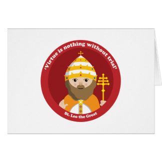 St. Leo el grande Tarjetón