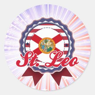 St. Leo, FL Etiquetas Redondas