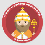 St. Leo the Great Classic Round Sticker